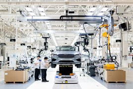 Polestar's assembly plant in Chengdu, China