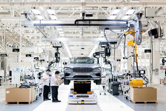 Polestar's assembly plant in Chengdu, China