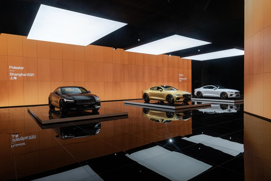 Polestar stand at the Shanghai International Auto Show 2021