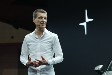 Polestar chief executive Thomas Ingenlath at  this week's Shanghai International Auto Show