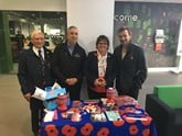 Aston Barclay raised £1,400 for the Royal British Legion in a Remembrance Day sale at Donnington Park.