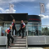 The Porsche Centre Bournemouth team at the annual Beaulieu Supercar Weekend