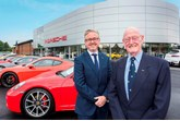 Jack Tordoff (right) and John Tordoff, chief executive of JCT600, at Porsche Teesside