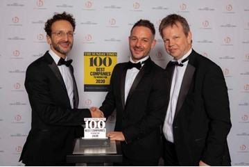 Porsche Retail Group receives its Sunday Times Best Companies to Work For award