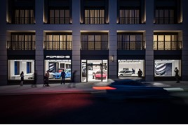 Porsche Retail Group's new Porsche Centre in Mayfair, Central London