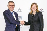 Carlos Tavares, PSA Group chief executive,  and his GM counterpart, Mary Barra