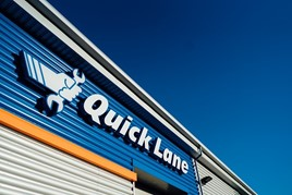 Ford's Quick Lane fast-fit centre signage