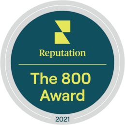 Reputation's the 800 Award badge