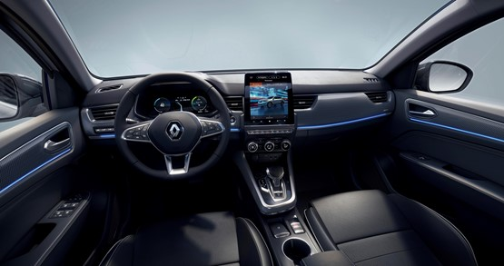 The new Renault Arkana coupe SUV's interior