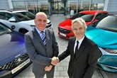 RAC business roadside managing director Phil Ryan and Groupe PSA parts and service director Richard Dyson