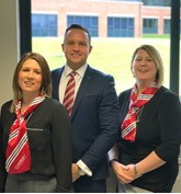 Chorley Group Rachel Sharples digital response team, Adam Turner sales director and Joanne Mount digital response team