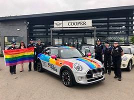 Cooper Mini Durham donates rainbow Mini Pride parade
