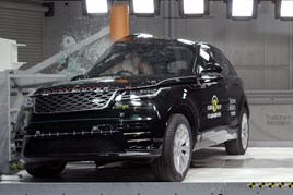 The Range Rover Velar on its way to a five-star Euro NCAP safety rating