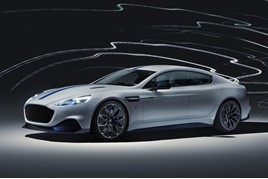 Aston Martin unveiled its Rapid E electric vehicle (EV) at the Shanghai Motor Show 2019