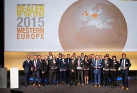 Winners at the 2016 Renault Dealer of the Year Awards