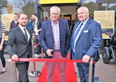 Official opening (from left): Seb Brechon, Renault UK's area sale manager, John Banks, chairman of the John Banks Group, and Mark Banks, group managing director