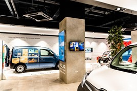 Renault vehicles on display at the EV Centre at MK One