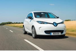The plug-in Renault Zoe EV
