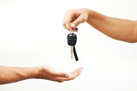 Rental leasing car keys