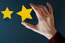hand pressing star