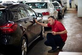 BCA staff checking vehicle