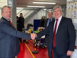 MP Karl McCartney and Stuart James, RMI director