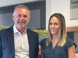 Drive Motor Retail joint managing director Rob Keenan with new head of marketing Emily Mead
