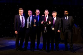 Robins & Day Liverpool representatives collect their Dealership of the Year award