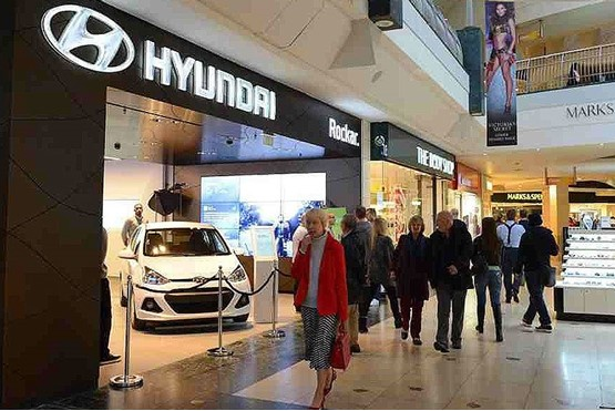 Hyundai Motor UK's Bluewater Shopping store, originally operated in partnership with Rockar