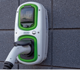 One of Aston Barclay's new Rolec EV charge points