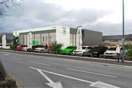 An artist's impression of the RRG Group Bolton Skoda facility