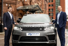 Ryan Wear with David Kendrick, national head of automotive at UHY Hacker Young