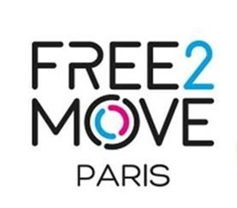 PSA Group's Free2Move Paris car sharing scheme logo