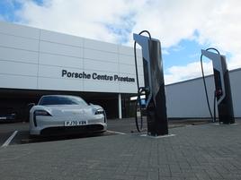 Porsche Centre Preston EV charger