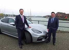 Paul Bowker, Bowker Motor Group chief executive (left) and Peter Mahon, general manager, operations, Porsche Cars GB Limited