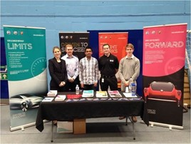 SMTC UK Recruitment specialist Sheree Molenaar (far left) with Damon Elson (second left) and fellow 2016/17 internship students at Bath University