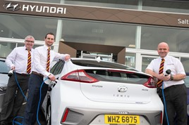 Pictured (from left) Noel Byrne, company accountant; Gareth Morrow, marketing manager; Darren Meehan, aftersales manager.