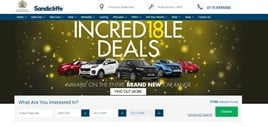 Sandicliff Motor Group website print screen stock