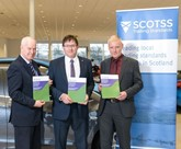 Sandy Burgess (left), chief executive of the Scottish Motor Trade Association (SMTA), at the launch of the SCOTSS used car sales guidance