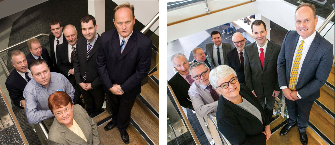 The real 10-year challenge is holding on to valued staff  – Mitchell Group's senior  management team in 2009  and today