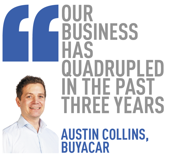 our business has quadrupled in the past three years   austin collins, BuyaCar