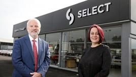 Mervyn Stewart managing director, Stephen Stewart with Ellen Matthews, business banking manager at Danske Bank