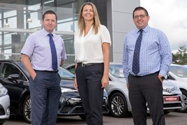 Shelbourne Motors directors Paul Ward, Richard Ward, Caroline Willis