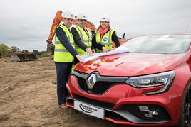 Shelbourne Motors unveils its Newry Renault plans (from left):  Richard Ward, sales director; Paul Ward, sales director; and Caroline Willis, financial director.