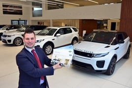 Shukers Land Rover's head of business, Joe Barney
