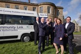 Purpose-built minibus 'James' supplied to Rippon Community Link by Simon Bailes Peugeot