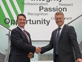 Vertu Motors' new commercial vehicle director, Simon Elliott (left), with group chief executive, Robert Forrester