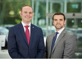 Skoda's regional contract and leasing manager for the south,James Watson, and Matt Hattersley, national fleet sales manager