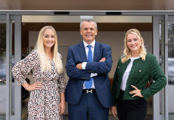 Family business: Katie Snow, Peter Snow and Olivia Snow of Snows Motor Group