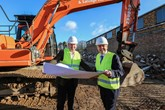 Breaking ground (from left): Mark Austin, franchise manager at Snows Southampton with Snows Group chairman Stephen Snow